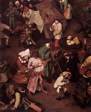 Pieter the Elder Bruegel - The Fight between Carnival and Lent (detail) 3