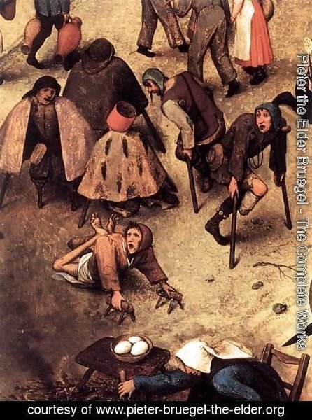 Pieter the Elder Bruegel - The Fight between Carnival and Lent (detail) 5