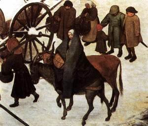 Pieter the Elder Bruegel - The Census at Bethlehem (detail) 2