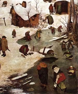 Pieter the Elder Bruegel - The Census at Bethlehem (detail) 4