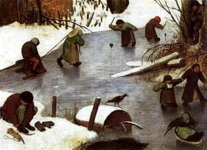 Pieter the Elder Bruegel - The Census at Bethlehem (detail) 5