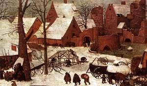 Pieter the Elder Bruegel - The Census at Bethlehem (detail) 6