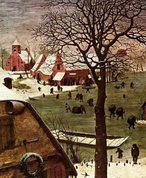 Pieter the Elder Bruegel - The Census at Bethlehem (detail) 7