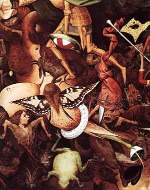 Pieter the Elder Bruegel - The Fall of the Rebel Angels (detail)