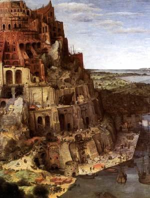 Pieter the Elder Bruegel - The Tower of Babel (detail)