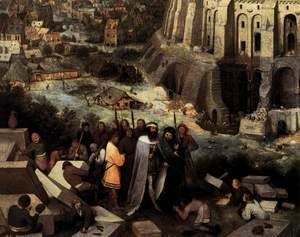 Pieter the Elder Bruegel - The Tower of Babel (detail) 3