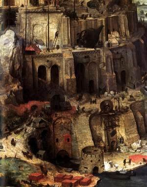Pieter the Elder Bruegel - The Tower of Babel (detail) 4