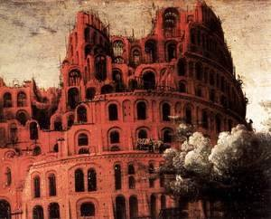 Pieter the Elder Bruegel - The Little Tower of Babel (detail)