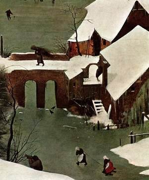 Pieter the Elder Bruegel - The Hunters in the Snow (detail)