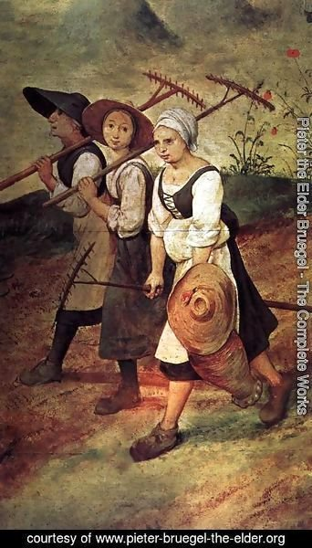 Pieter the Elder Bruegel - Haymaking (detail) 2