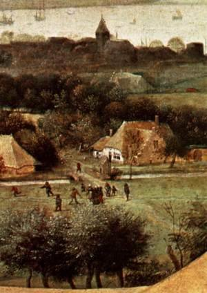 Pieter the Elder Bruegel - The Corn Harvest (detail) 3