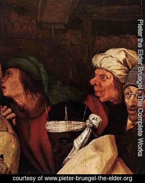 Pieter the Elder Bruegel - The Adoration of the Kings (detail) 4