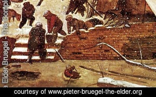Pieter the Elder Bruegel - Adoration of the Kings in the Snow (detail)