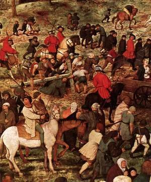 Pieter the Elder Bruegel - Christ Carrying the Cross (detail) 2