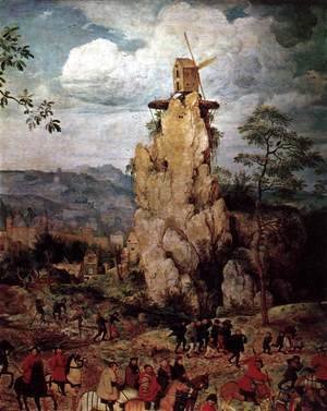 Pieter the Elder Bruegel - Christ Carrying the Cross (detail) 7