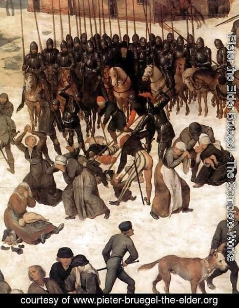 Pieter the Elder Bruegel - The Massacre of the Innocents (detail)