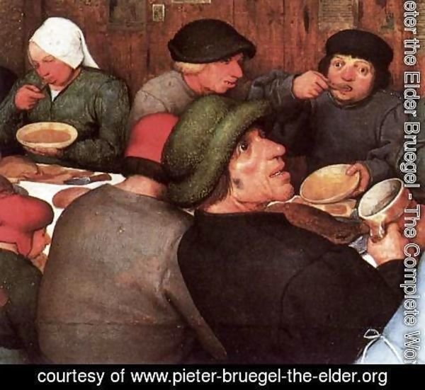 Pieter the Elder Bruegel - Peasant Wedding (detail) 2