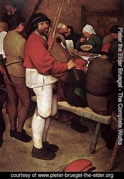 Pieter the Elder Bruegel - Peasant Wedding (detail) 3
