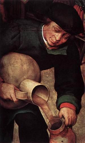 Pieter the Elder Bruegel - Peasant Wedding (detail) 4