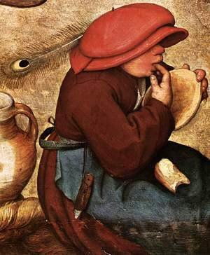 Pieter the Elder Bruegel - Peasant Wedding (detail) 5