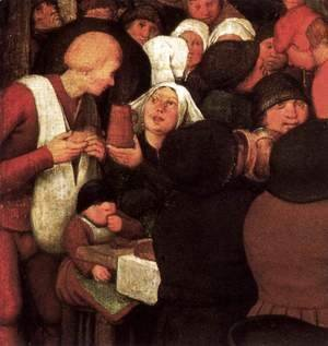 Pieter the Elder Bruegel - Peasant Wedding (detail) 6