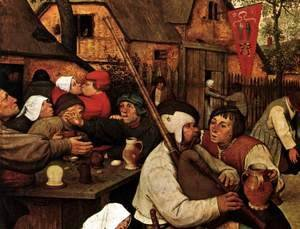 Pieter the Elder Bruegel - The Peasant Dance (detail)