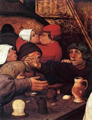 Pieter the Elder Bruegel - The Peasant Dance (detail) 2
