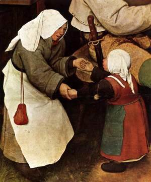Pieter the Elder Bruegel - The Peasant Dance (detail) 3