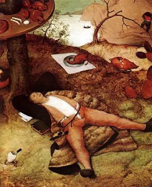 Pieter the Elder Bruegel - The Land of Cockaigne (detail)