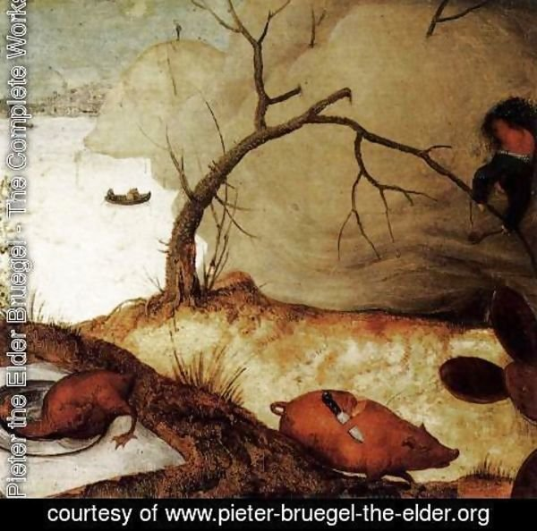 Pieter the Elder Bruegel - The Land of Cockaigne (detail) 2