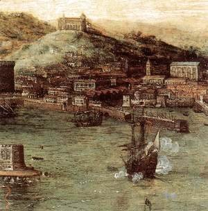 Naval Battle in the Gulf of Naples (detail)