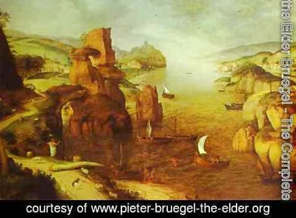 Pieter the Elder Bruegel - Landscape with Christ Appearing to the Apostles at the Sea of Tiberias