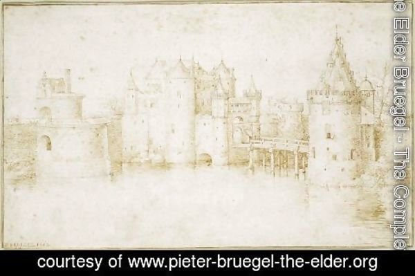 Pieter the Elder Bruegel - Walls Towers and Gates of Amsterdam