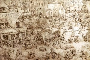 Pieter the Elder Bruegel - The Fair at Hoboken