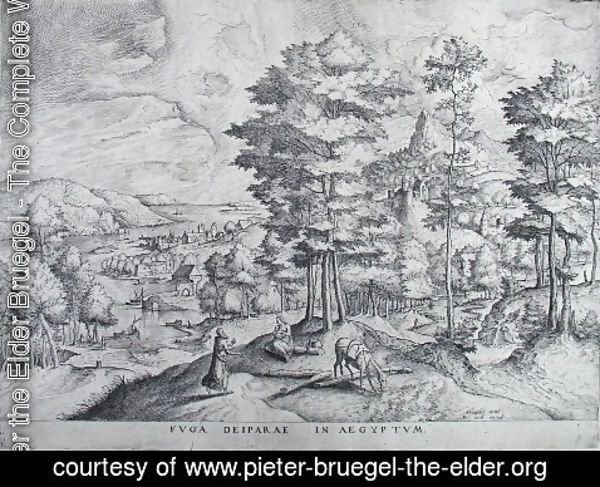 Pieter the Elder Bruegel - Running away the Mother of God into Egypt