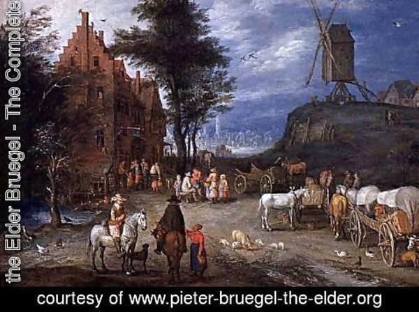 Pieter the Elder Bruegel - Village street