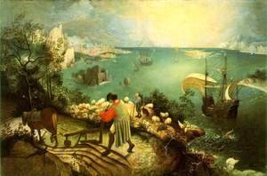 Pieter the Elder Bruegel - Landscape with the Fall of Icarus c. 1558