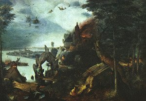 Pieter the Elder Bruegel - Landscape with the Temptation of Saint Anthony 1555-58