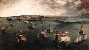 Pieter the Elder Bruegel - Naval Battle in the Gulf of Naples 1558-62