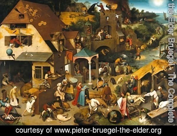 Pieter the Elder Bruegel - Netherlandish Proverbs 1559