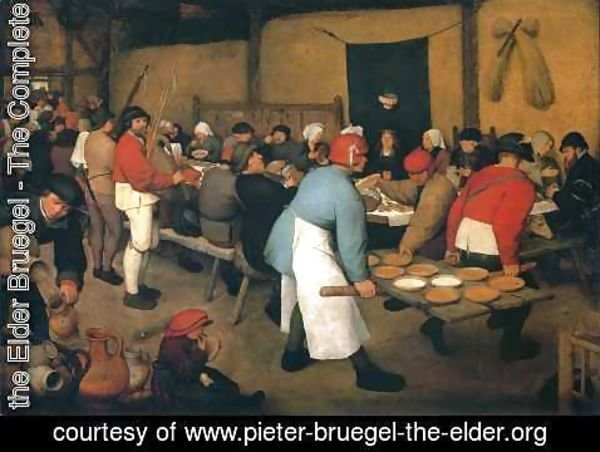 Pieter the Elder Bruegel - Peasant Wedding, c. 1568