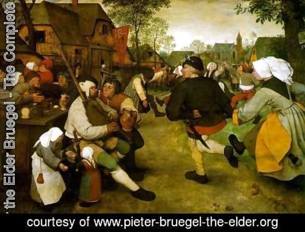 Pieter the Elder Bruegel - The Peasant Dance 1568