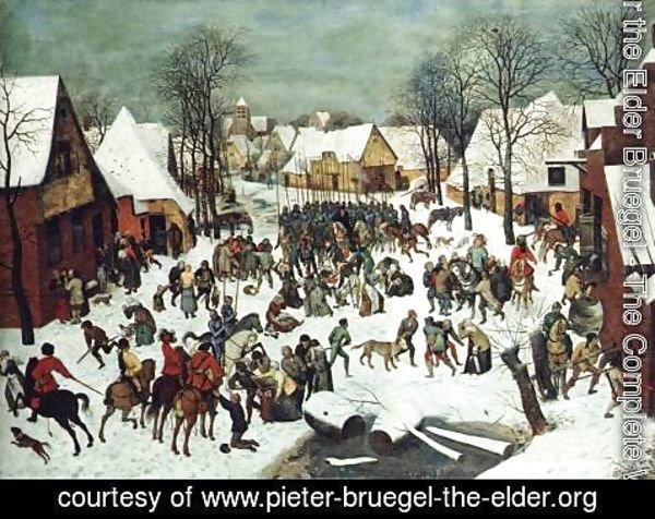 Pieter the Elder Bruegel - The Slaughter of the Innocents 1565-66