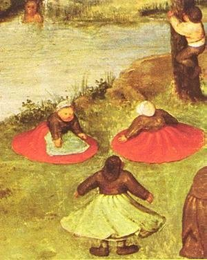 Pieter the Elder Bruegel - Children's Games (detail 2) 1559-60