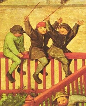 Pieter the Elder Bruegel - Children's Games (detail 3) 1559-60