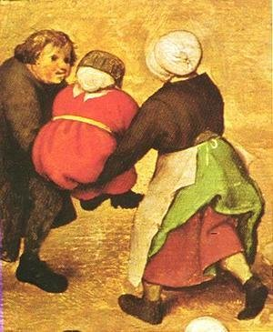 Pieter the Elder Bruegel - Children's Games (detail 4) 1559-60