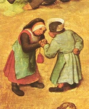 Pieter the Elder Bruegel - Children's Games (detail 5) 1559-60