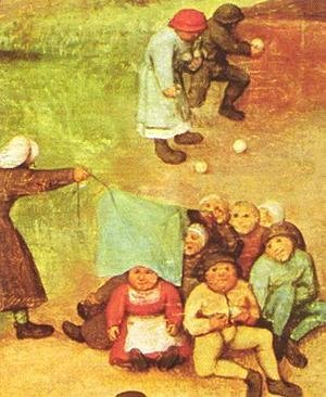 Pieter the Elder Bruegel - Children's Games (detail 6) 1559-60