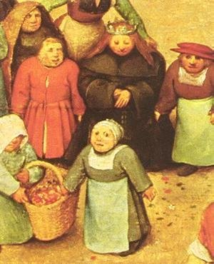 Pieter the Elder Bruegel - Children's Games (detail 7) 1559-60