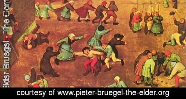 Pieter the Elder Bruegel - Children's Games (detail 8) 1559-60